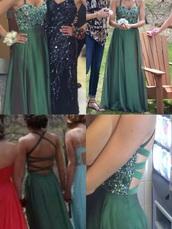 dress,dark green,back of dress,prom dress,jewels
