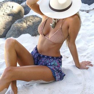 shorts boho chic boho chic cute shorts aztec printed shorts print flowy flowy shorts loose shorts beach cover up bikini outfit bikini