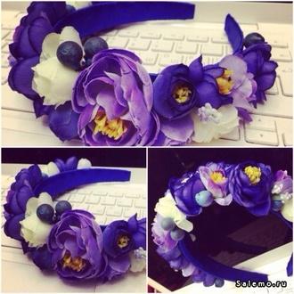 hair accessory headband flowers purple purple flowers accessory accessories beautiful fashion flower headband black purple flowers