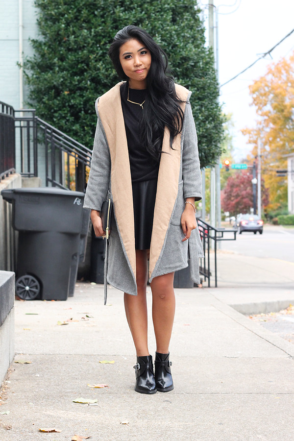 fashion of a novice sweater skirt coat shoes