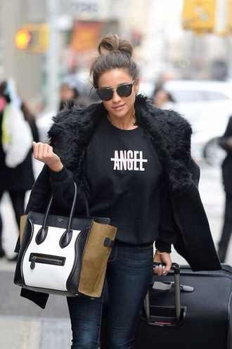 sweater black black sweater angel beyoncé shirt beyonce sweatshirt jacket