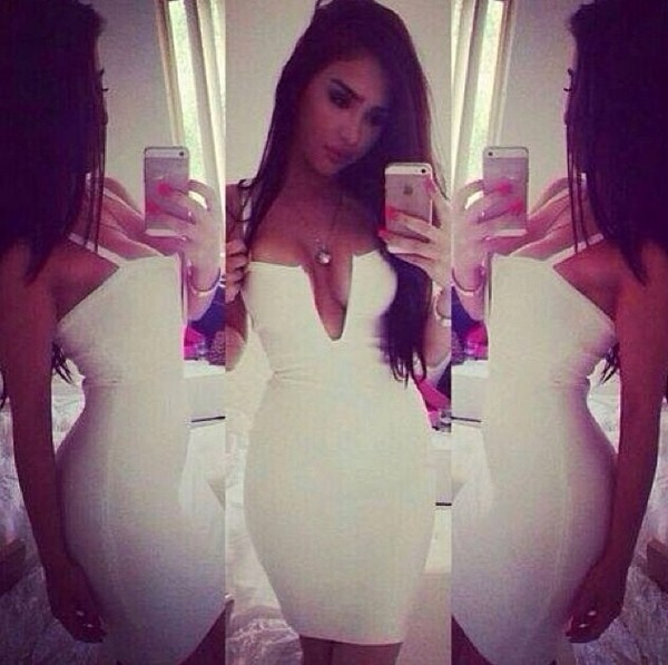 dress white cute dress