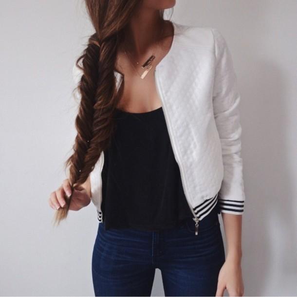 jacket white jacket jacket white