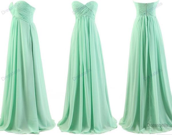 dress mint dress long mint dress bridesmaid long bridesmaid dress