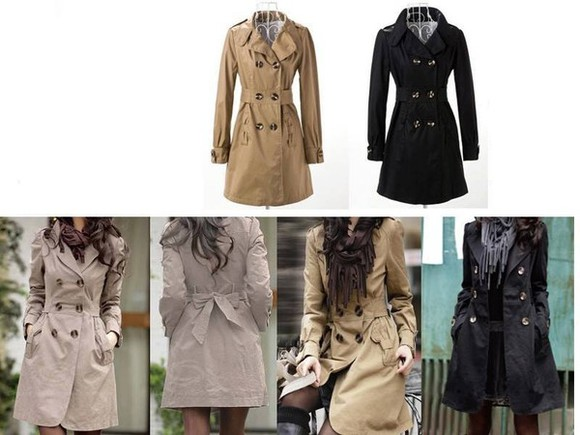 coat trench bow