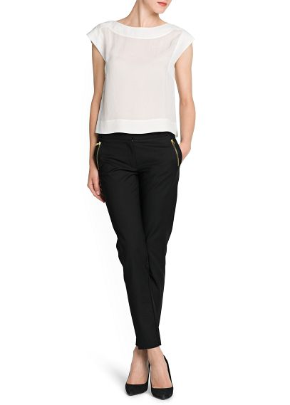 MANGO - CLOTHING - Trousers - Cropped slim trousers