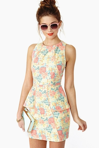 dress flowers bright yellow