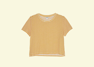 t-shirt yellow crop top yellow yellow top crop tops crop monki