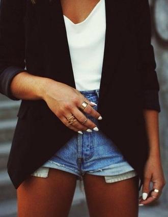 jacket black elegant fashion