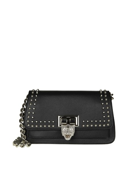 PHILIPP PLEIN bag shoulder bag leather black black leather