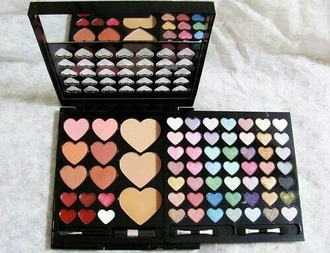make-up heart cute make-up all in one