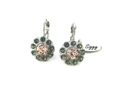 jewels,siggy,swarovski,daisy earrings,pink and grey,swarovski silk,daisy drop earrings,flower earrings,bling,gifts for her,gifts for mom,sparkle,victorian style,siggy jewelry,affordable