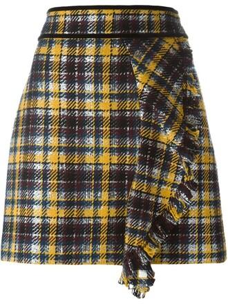skirt ruffle yellow orange