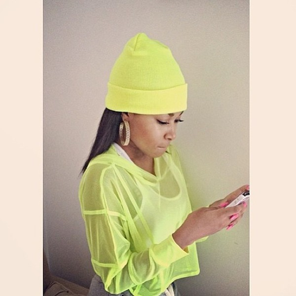lime neon benies sweater
