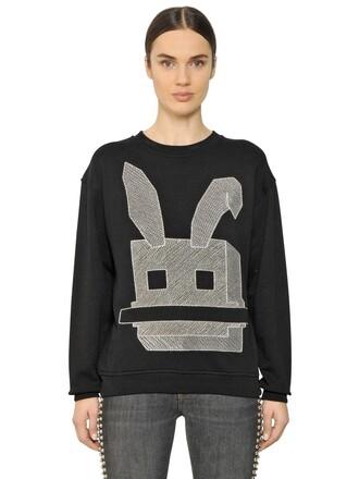 sweatshirt bunny cotton black sweater