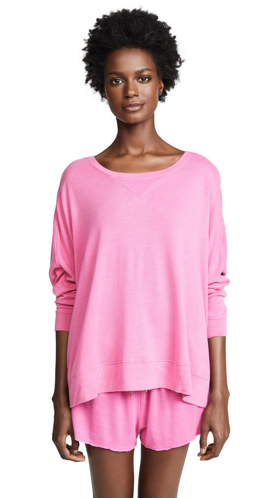 Honeydew Intimates Starlight French Terry Lounge Sweatshirt in pink