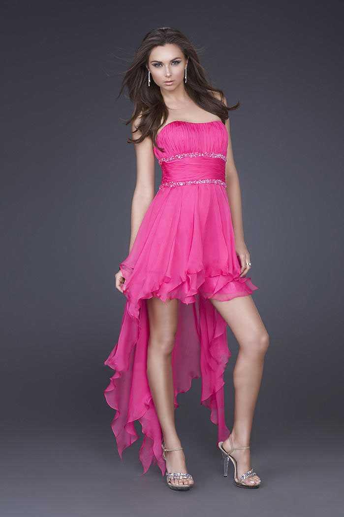 Hot Pink Mini Prom Dress