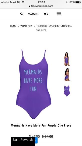 swimwear purple one piece swimsuit summer beach quote on it free vibrationz