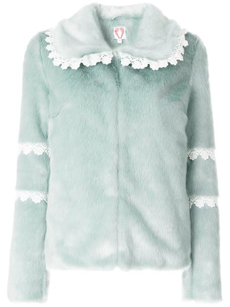 jacket faux fur jacket fur jacket fur faux fur women green