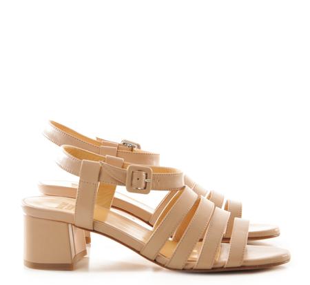 Maryam Nassir Zadeh Palma Low Heel Sandals Camel Napa on