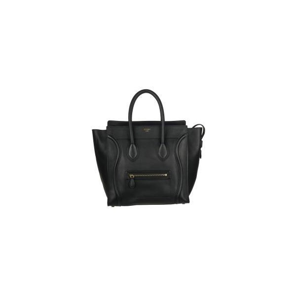 Celine Black Leather Luggage Tote Bag - CÉLINE - Polyvore