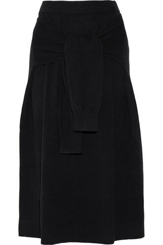 skirt midi skirt midi wool black