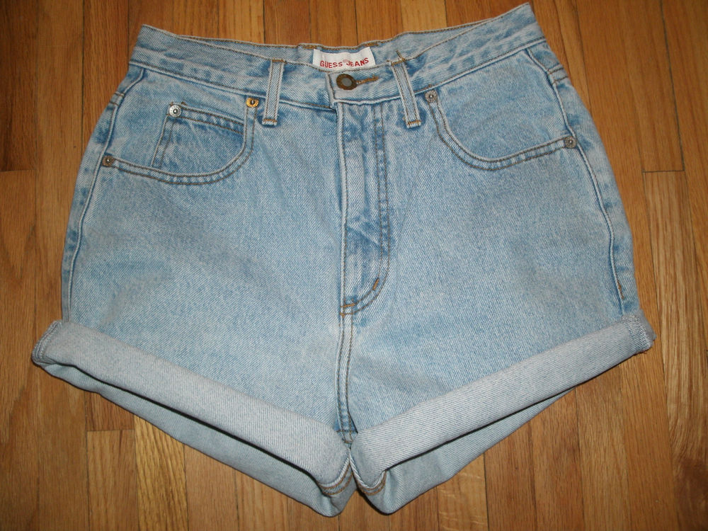 Guess High Waisted Vtg Jean Shorts XS s 23 24 | eBay