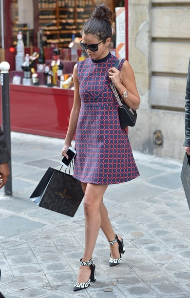 dress selena gomez fashion week 2014 streetstyle shoes