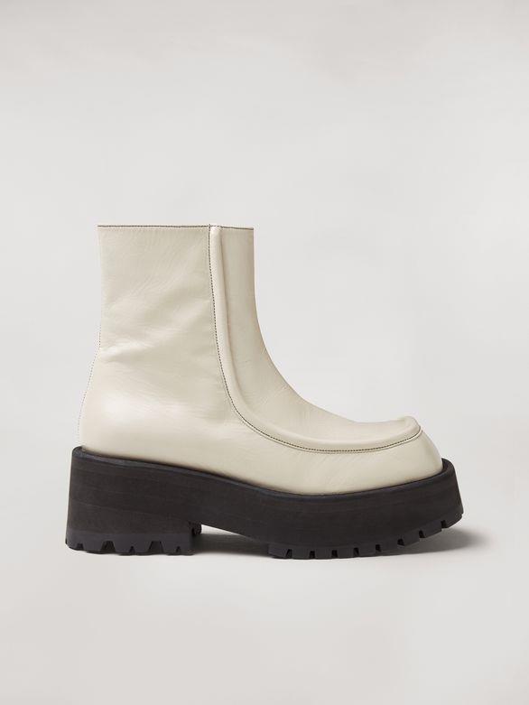 MARNI Ankle Boots carro armato wedge in goat skin