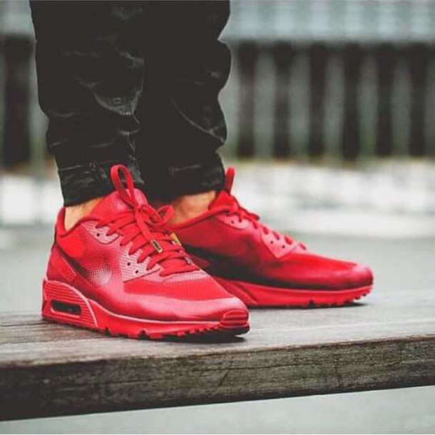 shoes red nike airmac1