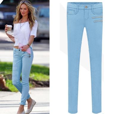 Miranda zipper jeans (blue) · fashion struck · online store powered by storenvy