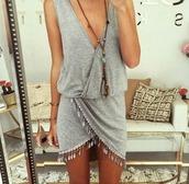 dress,grise,boheme style