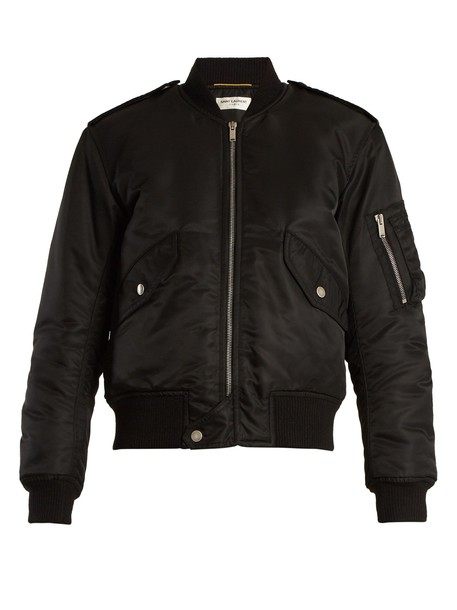 Saint Laurent jacket bomber jacket black