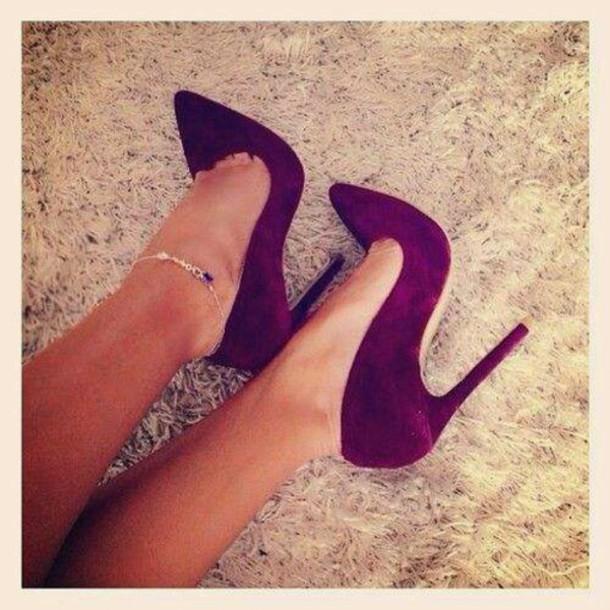purple high heels velvet shoes shoes plum pointed toe high heels jewels pointed toe pumps heels burgundy suede pigalle stiletoes marroon redheels