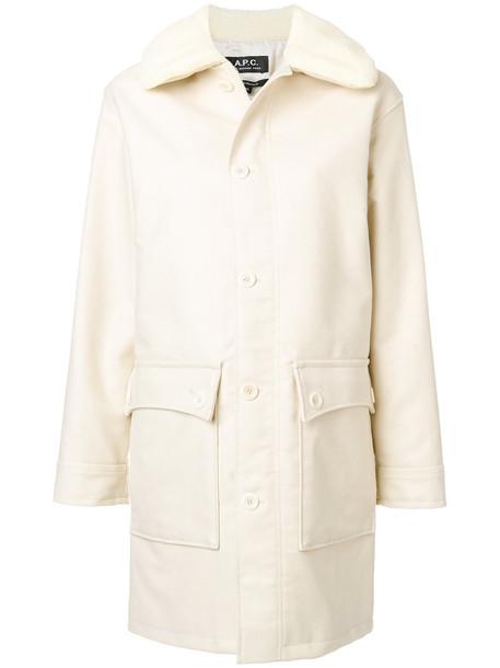 A.P.C. coat women white cotton