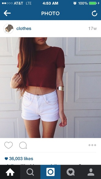 shirt baggy maroon/burgundy crop tops top