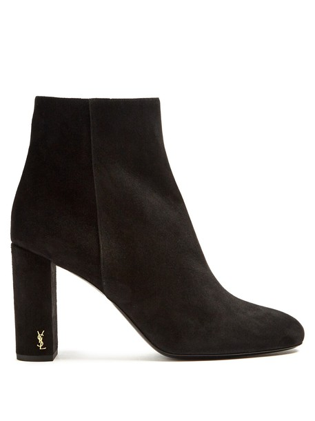 Saint Laurent suede ankle boots ankle boots suede black shoes