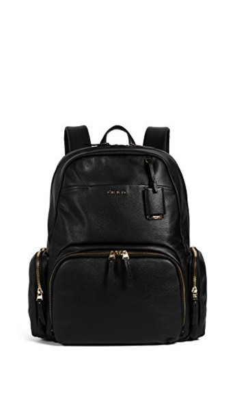 Tumi backpack leather backpack leather black bag