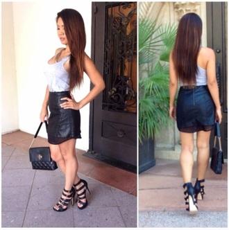 leather skirt shorts mini dress mini skirt streetstyle sexy dress style bag skirt shoes