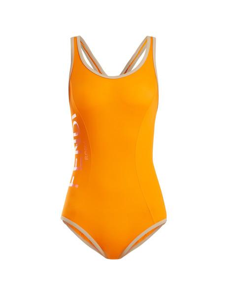 racerback orange swimwear