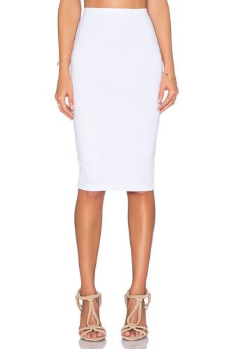 skirt pencil skirt spandex white
