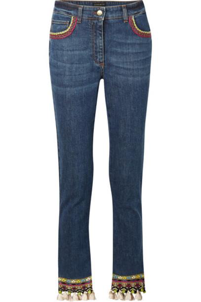 ETRO jeans skinny jeans denim cropped high embellished