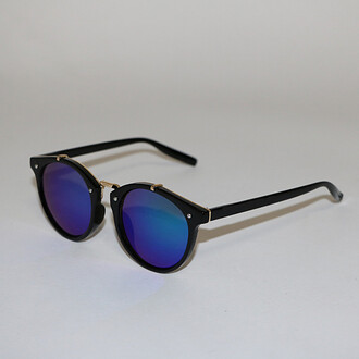 sunglasses blue blue mirrored lenses bikini luxe