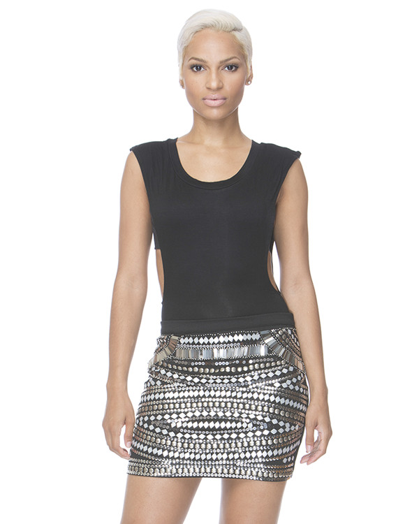 skirt black skirt beaded beaded skirt metallic mini skirt