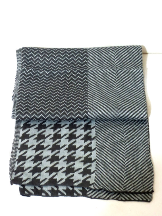 Men ScarfKnitting machine scarves.of gray And by MenAccessory