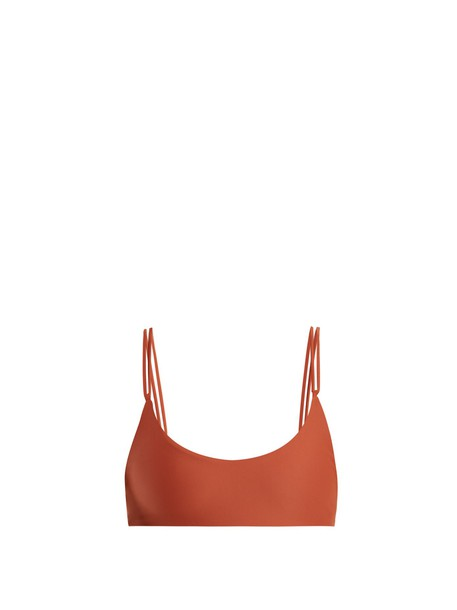 JADE Swim bikini bikini top dark orange swimwear