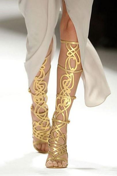 3ab4f67e27a7 shoes sandales elie tahari gold strappy sandals heels high heels golden  gladiator heels gladiators gladiators gladiators