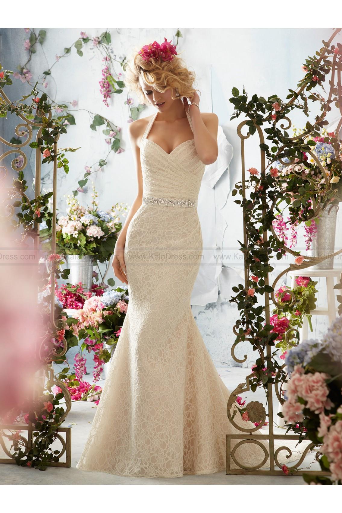 Fitted Floor Length Mermaid Style Bridal Dress By Mori Lee 6761 - Wedding Dresses 2014 New - Formal Wedding Dresses