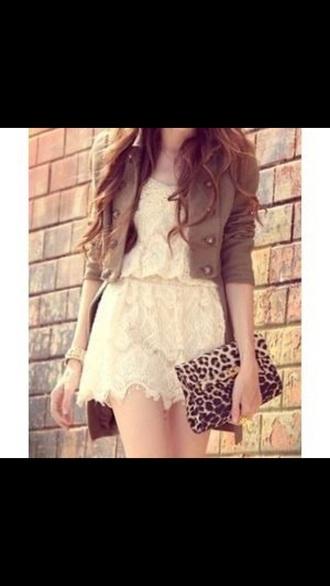 dress short dress cream dress white dress lace dress