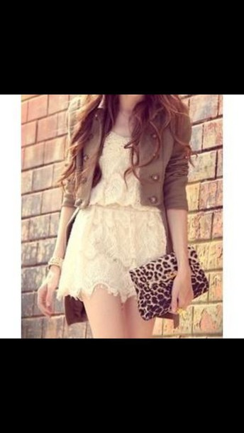dress short dress cream dress white dress lace dress